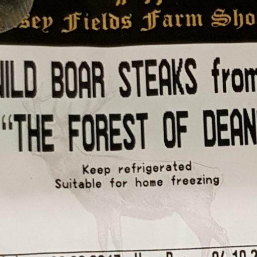 Wild Boar Steaks